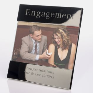 Engraved Engagement Photo Frame Product Image