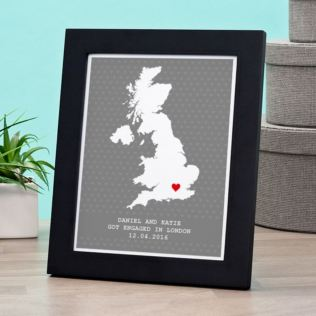 Personalised Engagement Location Framed Print Product Image