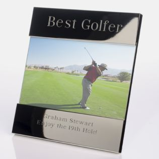 Engraved Best Golfer Photo Frame Product Image