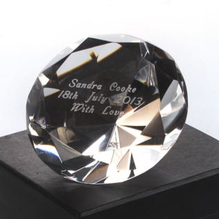 Engraved Crystal Paperweight Product Image