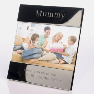 Engraved Mummy Shiny Silver Photo Frame Product Image
