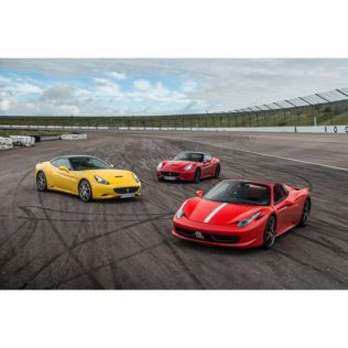 Triple Supercar Thrill with Free High Speed Passenger Ride - Week Round Product Image