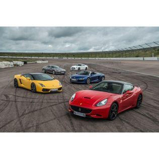 Five Supercar Thrill with Free High Speed Passenger Ride - Week Round Product Image