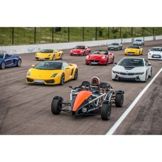 Six Supercar Driving Thrill with High Speed Passenger Ride Product Image