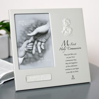 Personalised Praying Boy First Holy Communion Photo Frame Product Image