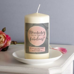 Personalised Mummy You're Simply Fabulous Candle Product Image