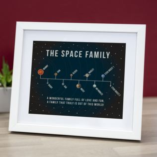 Personalised Solar System Family Framed Print Product Image