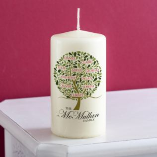 Personalised Family Tree Candle Product Image