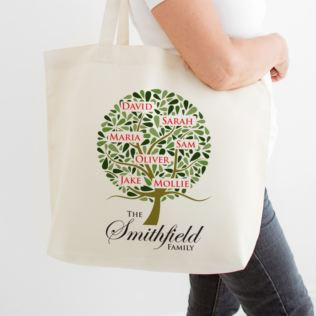 Family Tree Personalised Shopping Tote Bag Product Image