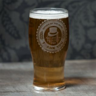 Personalised Father of The Bride Pint Glass Product Image