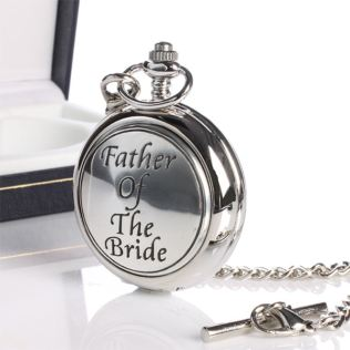 Father Of Bride Pocket Watch With Personalised Gift Box Product Image