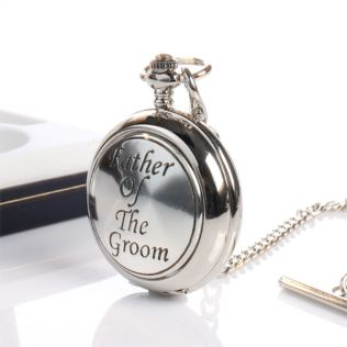 Father Of The Groom Pocket Watch With Personalised Gift Box Product Image