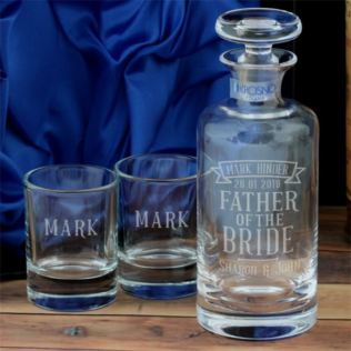 Personalised Father Of The Bride Decanter And Two Tots Product Image
