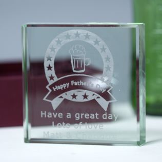 Father's Day Glass Keepsake Product Image