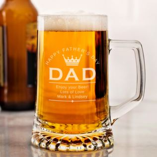 Personalised Father's Day Beer Glass Tankard Product Image
