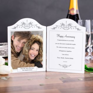 First Anniversary Photo Message Plaque Product Image