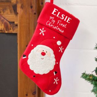 Personalised Luxury My First Christmas Stocking Product Image