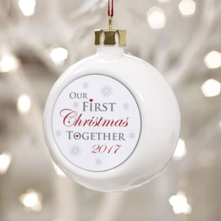 Our First Christmas Together Bauble Product Image