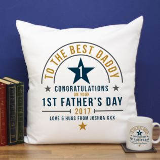 Personalised First Father's Day Cushion Product Image