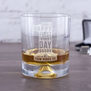 Personalised First Father's Day No 1 Whisky Tumbler Product Image