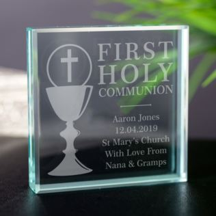 Personalised First Holy Communion Glass Keepsake Product Image