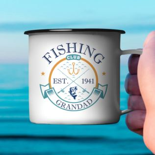 Personalised Fishing Club Enamel Mug Product Image