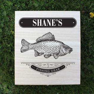 Fishing Gear - Personalised Wooden Box Product Image