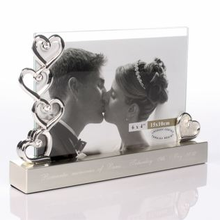 Engraved Five Hearts Photo Frame Product Image