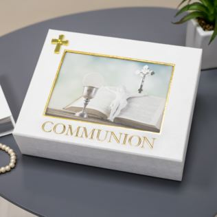 Celebrations Linen Look Communion Keepsake Box Product Image