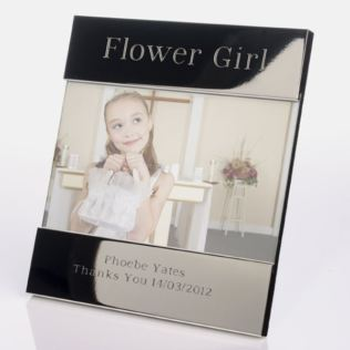 Engraved Flower Girl Photo Frame Product Image