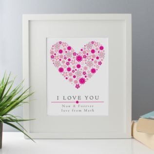 I Love You Personalised Framed Print Product Image