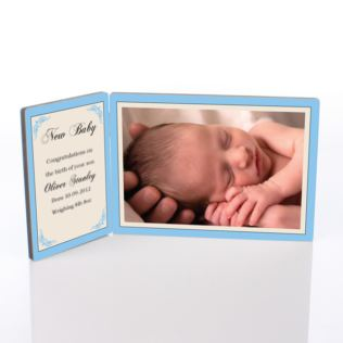 New Baby Photo Message Plaque Product Image