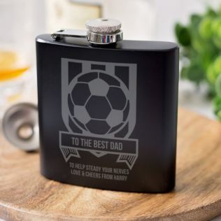 Personalised Football Black Hip Flask Product Image