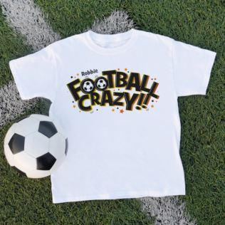 Personalised Football Crazy Children's T-Shirt Product Image