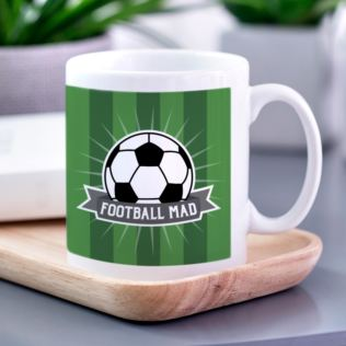 Personalised Football Mad Ceramic Mug Product Image