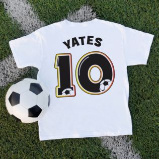 Personalised Children's Football Number T-Shirt Product Image