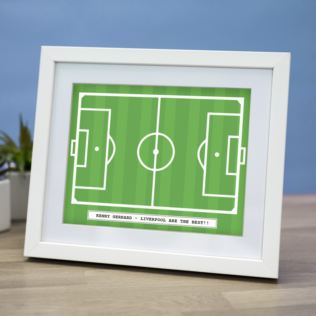 Personalised Football Pitch Framed Print Product Image