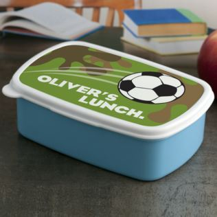Personalised Football Lunch Box Product Image