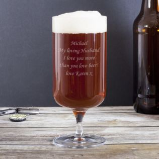 Personalised Footed Beer Glass Product Image
