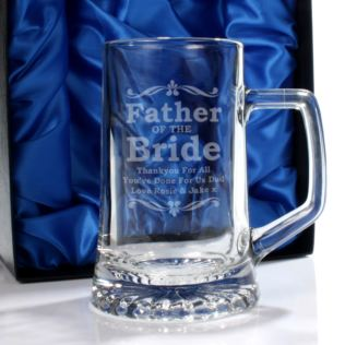 Personalised Father Of The Bride Glass Stern Tankard Product Image