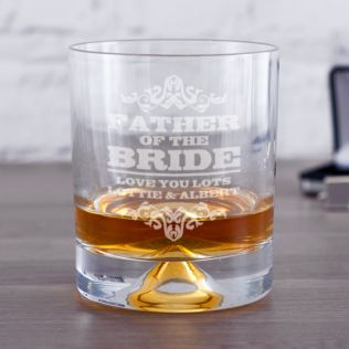 Personalised Father Of The Bride Whisky Tumbler Product Image