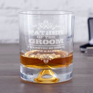 Personalised Father Of The Groom Whisky Tumbler Product Image
