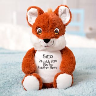 Personalised Embroidered Cubbies Fox Soft Toy Product Image