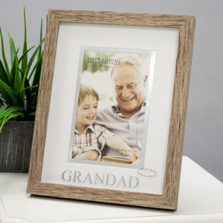 Wood Effect Grandad Photo Frame Product Image
