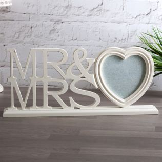 Mr & Mrs Large Heart Photo Frame Product Image