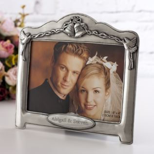 Personalised Antique Finish Bells Celebration Frame Product Image