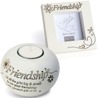 Friendship Tealight And Photo Frame Gift Set Product Image