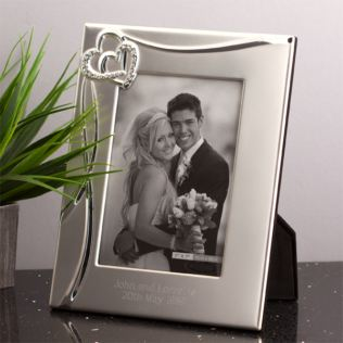 Personalised Entwined Hearts Photo Frame Product Image
