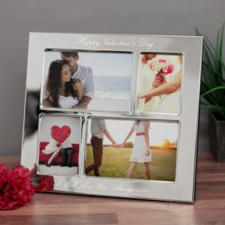 Engraved Valentines Day Collage Photo Frame Product Image
