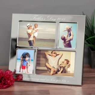 Father's Day Engraved Collage Photo Frame Product Image